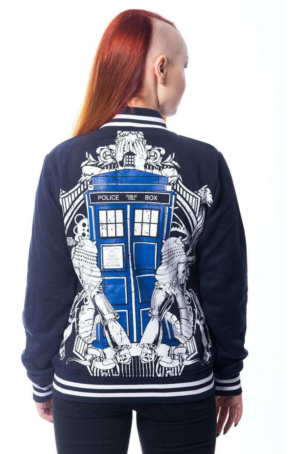 Doctor Who Villains Varsity Jacket