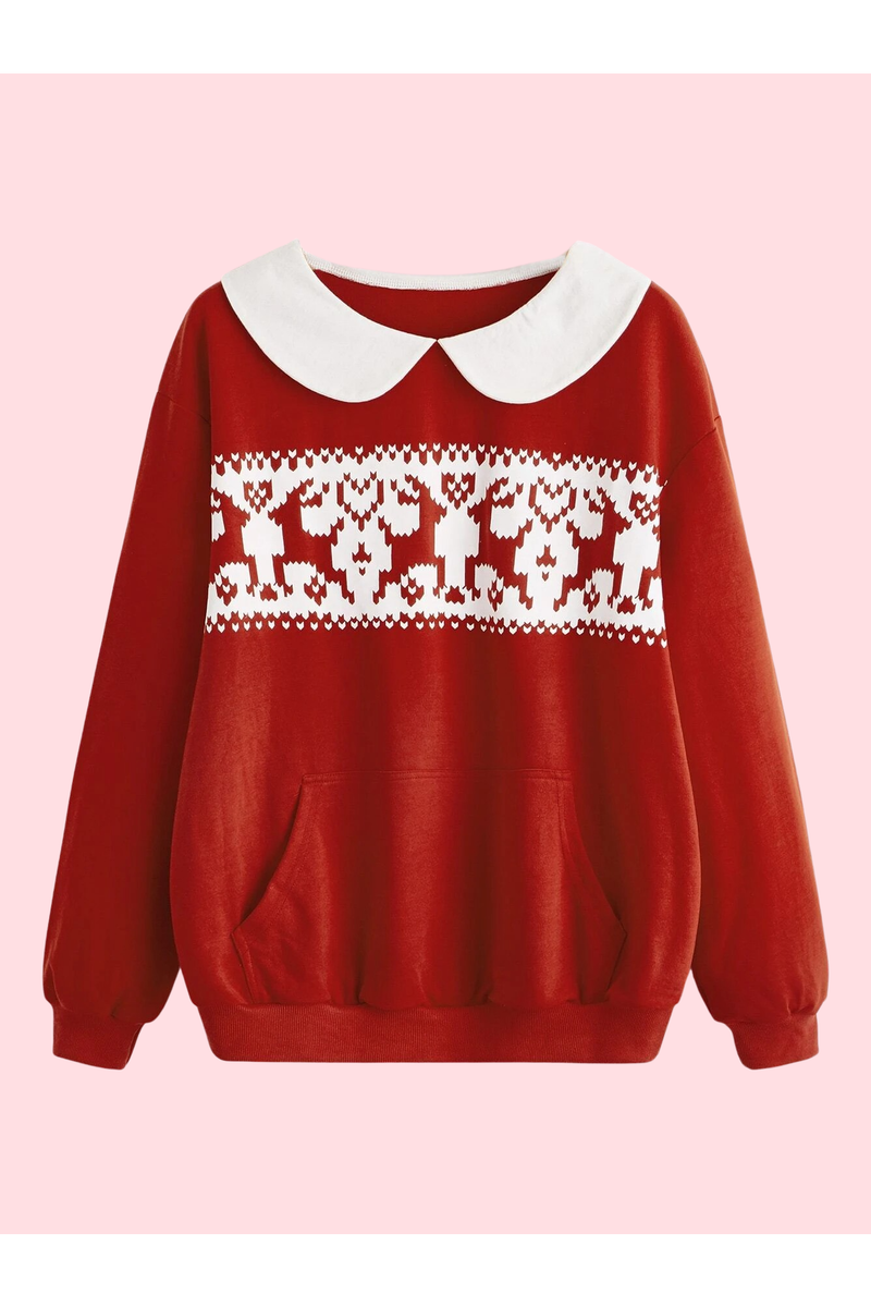 Fairisle Peter Pan Collar Christmas Sweater