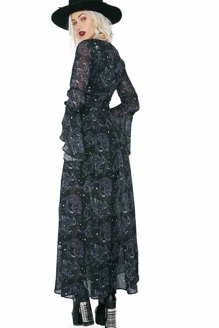 Dark Sea Maxi Dress - Soft Kitty Clothing