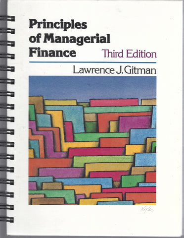 Principles of Managerial Finance Third Edition