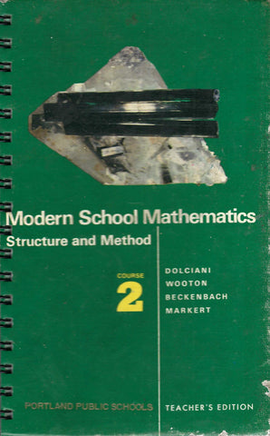 Modern School Mathematics Structure and Method Course 2