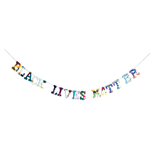 Board Book Phrase Garland Kit -- BLACK LIVES MATTER -- To Benefit ACLU