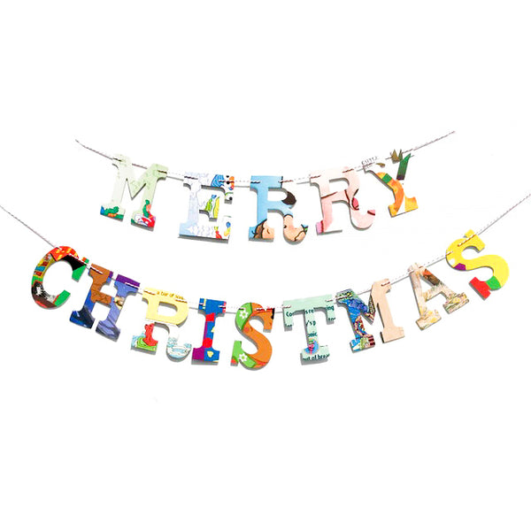 Board Book Garland Kit - MERRY CHRISTMAS