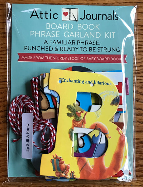 Board Book Phrase Garland Kit BE STILL & KNOW