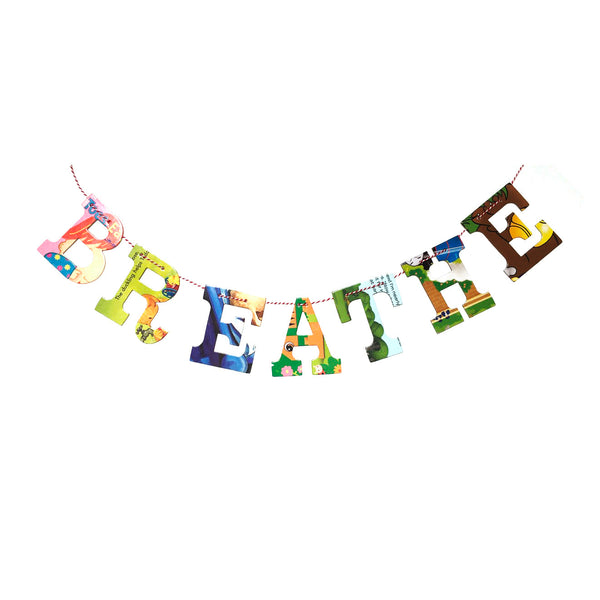 Board Book Garland DIY Kit BREATHE
