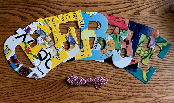 Board Book Phrase Garland Kit CELEBRATE
