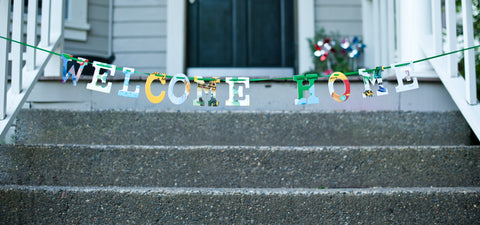 Board Book Phrase Garland - WELCOME HOME