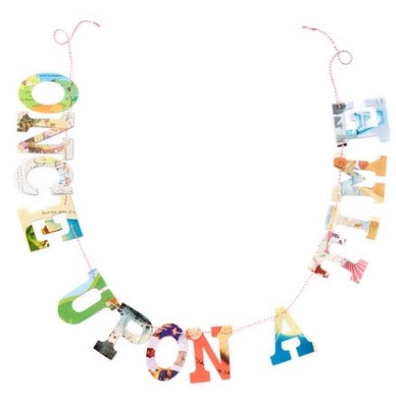 Board Book Phrase Garland Kit ONCE UPON A TIME