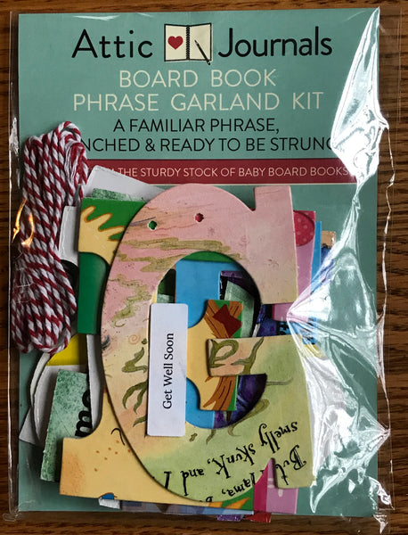 Board Book Phrase Garland Kit GET WELL SOON