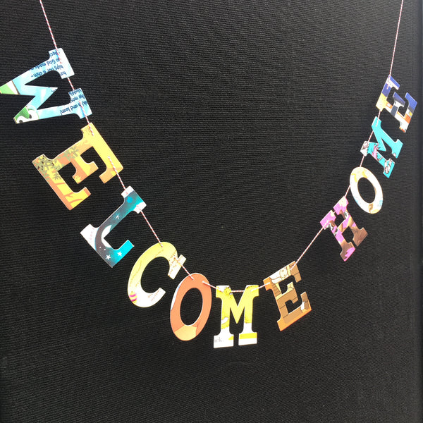 Board Book Phrase Garland Kit- WELCOME HOME