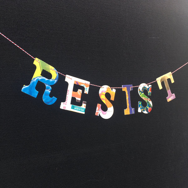 Board Book Garland Kit RESIST