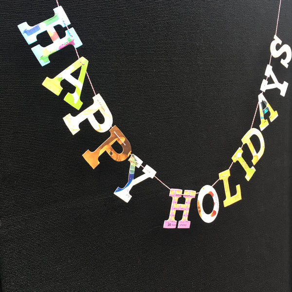 Board Book Phrase Garland Kit - HAPPY HOLIDAYS