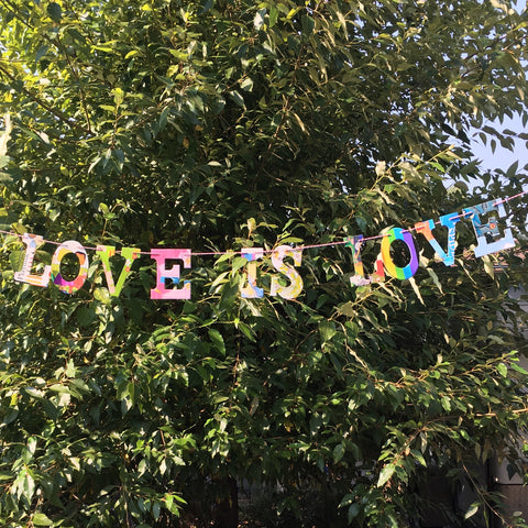 LOVE IS LOVE Board Book Garland