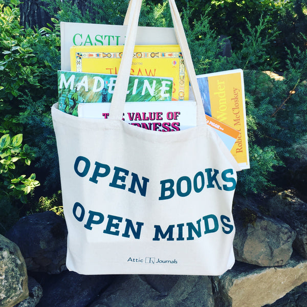 Open Books Open Minds Canvas Tote 2017 Edition