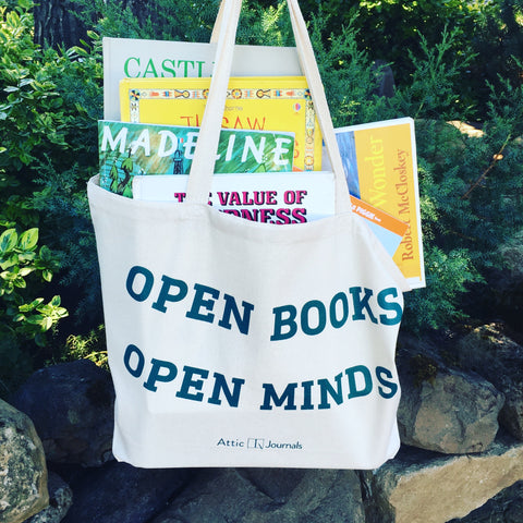 Open Books Open Minds Canvas Tote