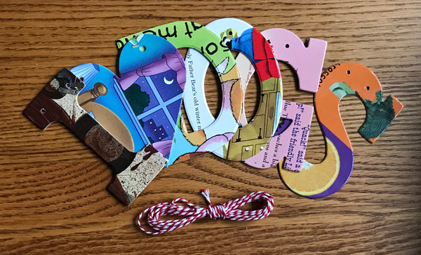 Board Book Phrase Garland Kit I Heart DOGS