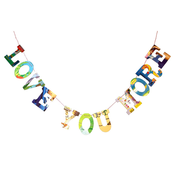 Board Book Garland Kit -- LOVE YOU MORE