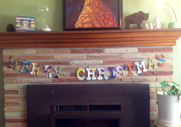 Merry Christmas Baby Board Book Garland
