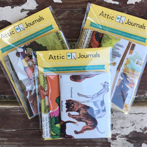 Book Page Mini Notepads