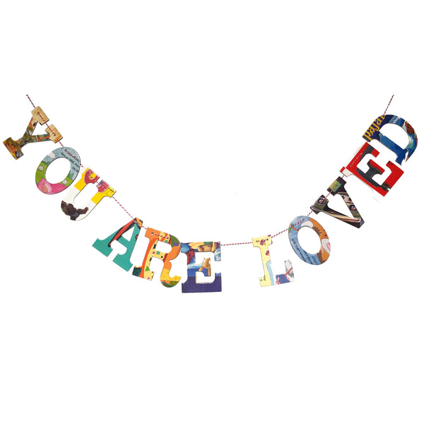 Board Book Garland Kit -- YOU ARE LOVED