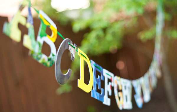 Baby Board Book ALPHABET GARLAND Kit --
