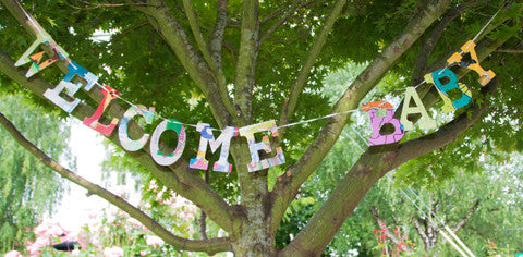 Board Book Phrase Garland - WELCOME BABY