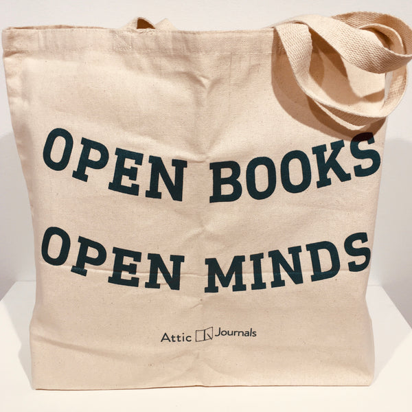 Open Books Open Minds Canvas Tote Collegiate Edition