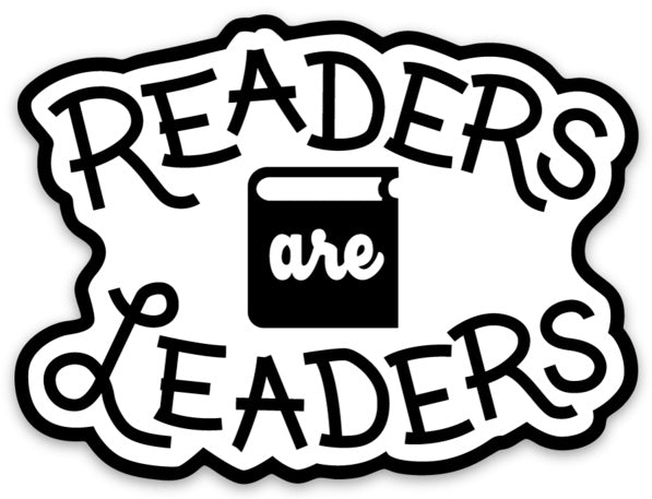 Vinyl Sticker -- Readers Are Leaders