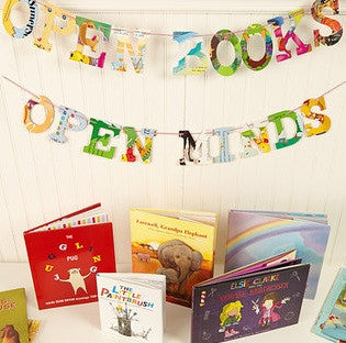 Open Books Open Minds Board Book Garland