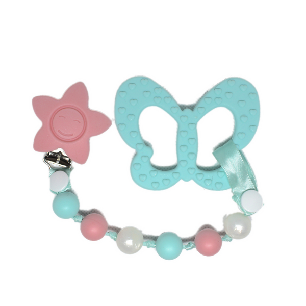 Butterfly Toy w/ Tri-Clip (Baby Blue, Pink, White Pearl)