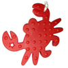 'Crabby' Teething Toy w/ Beaded Pacifier Clip