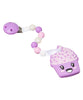 'Courtney Cupcake' Teething Toy W/ Beaded Pacifier Clip (assorted colors)