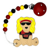 Lobie The Lion Teething Toy w/ Beaded Pacifier Clip (assorted colors)
