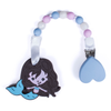 'Melody Mermaid' Teething Toy w/ Beaded Pacifier Clip (assorted colors)