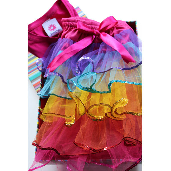 Rainbow Sequin Tutu & T-Shirt ~ Beautifully Gift Boxed