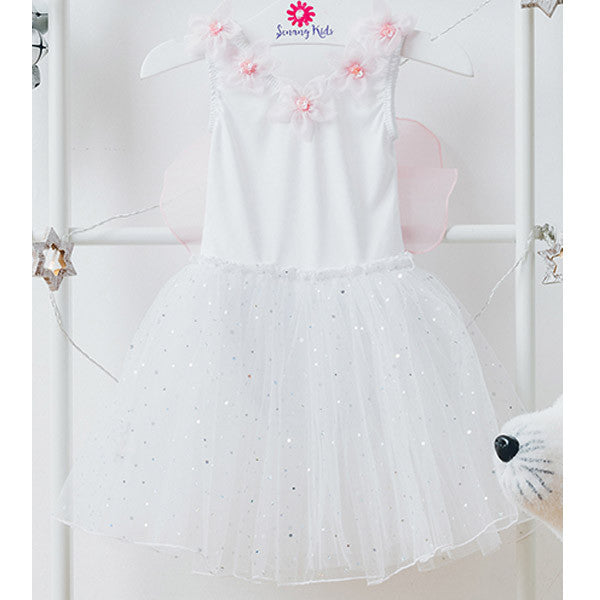 White Fairy Dress with Wings
