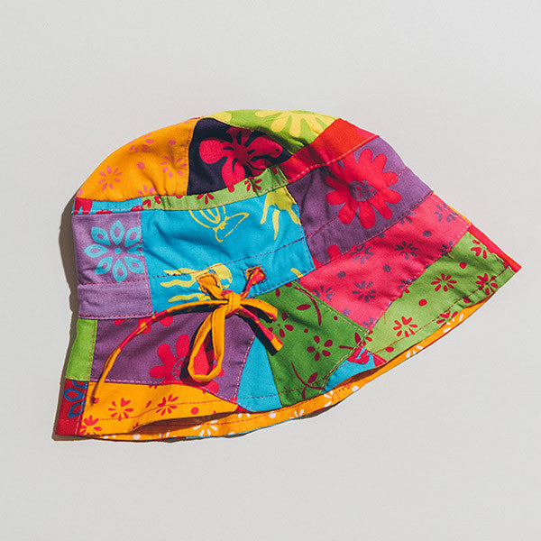 Hat - Patchwork Reversible Turmeric