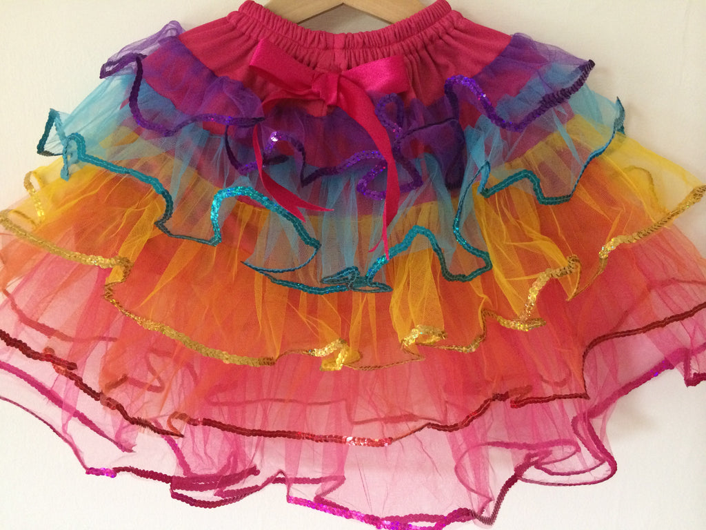 Rainbow Sequin Tutu