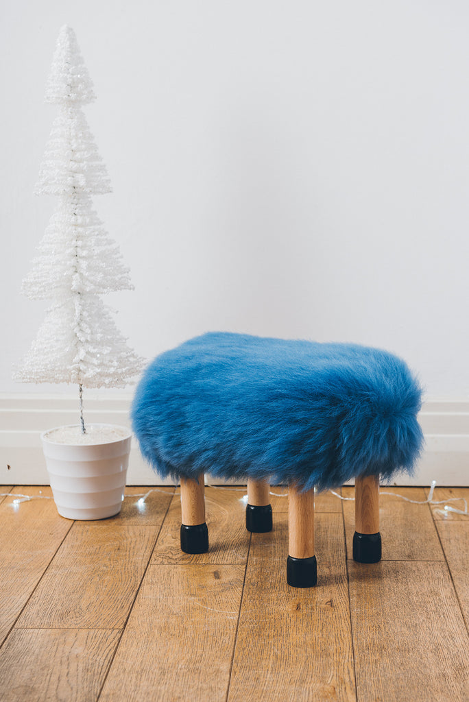 Nia Baa Stool in blue