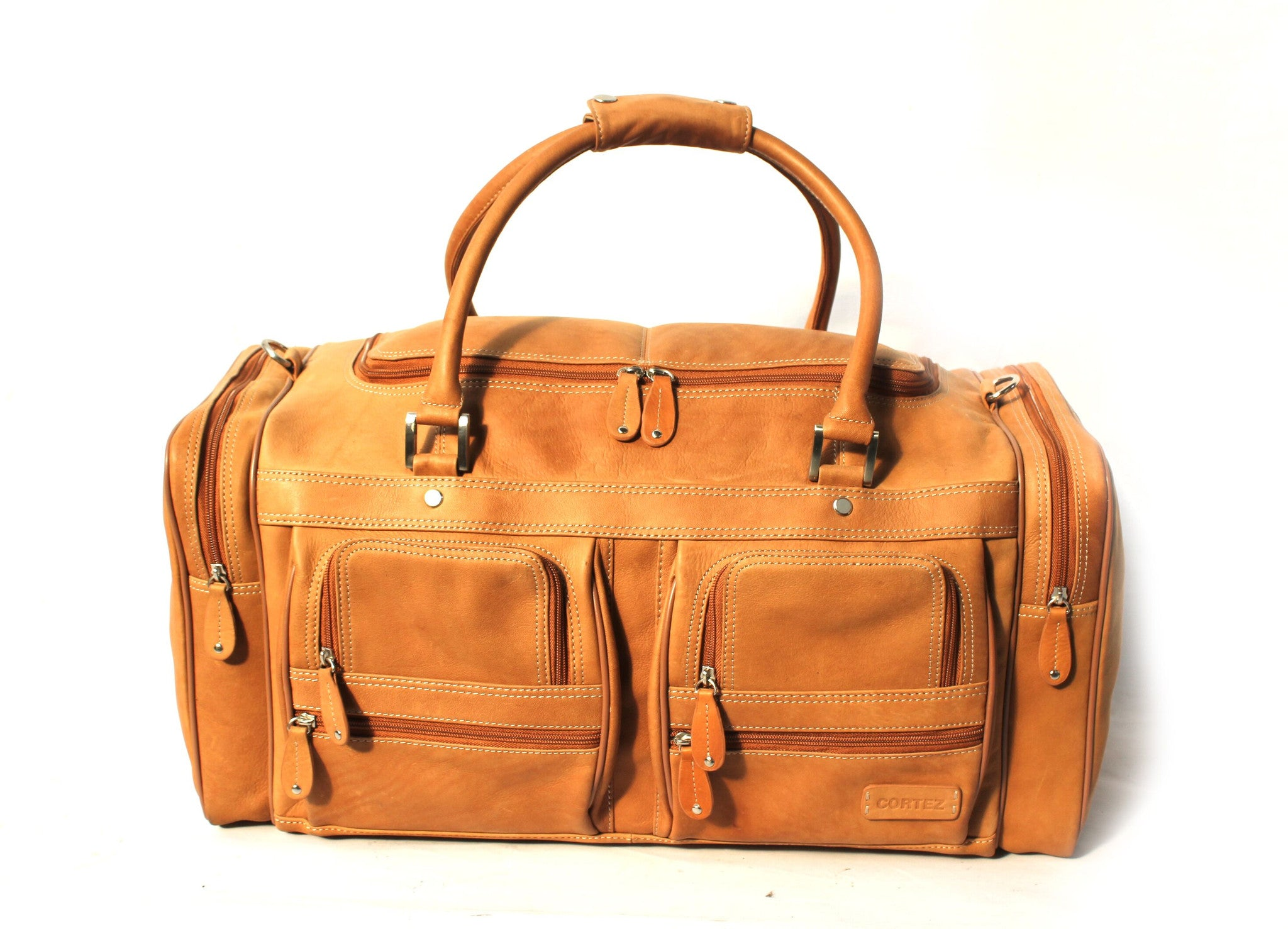 Cortez Colombian Leather Top Opening Travel Bag