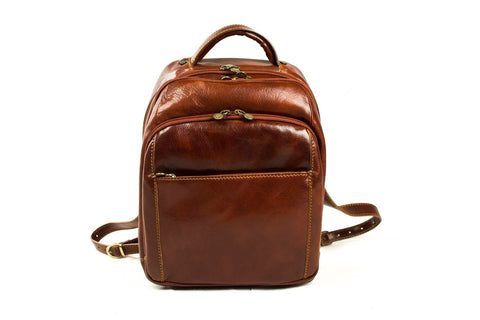 Allesia Italian Leather Backpack