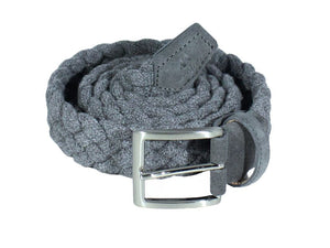 Solid Wool Elasticated Woven Belt
