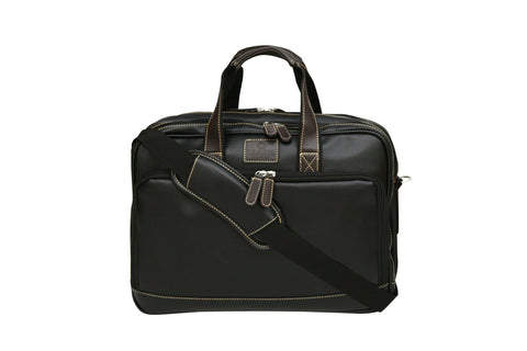 Tassia Pu Leather Twin Handle Laptop Business Bag