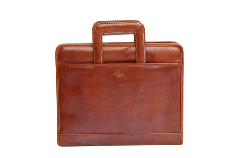 S. Babila Top Grain Leather Twin Handle Conference Folder