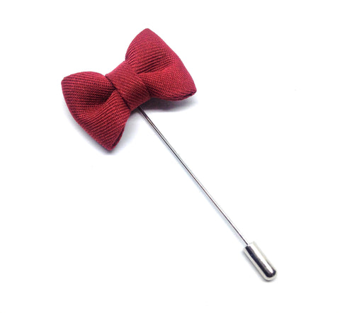 Bow Tie Lapel Pin - Wine