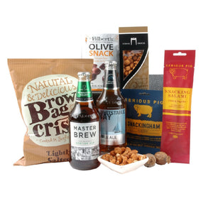 Craft Beer and Pig Snacking Hamper