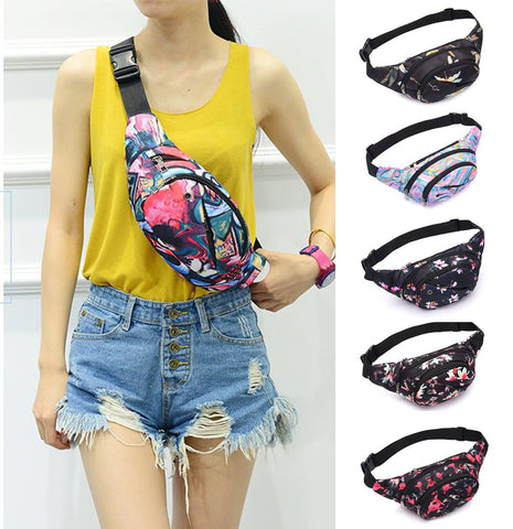 Colorful Print Fanny Pack