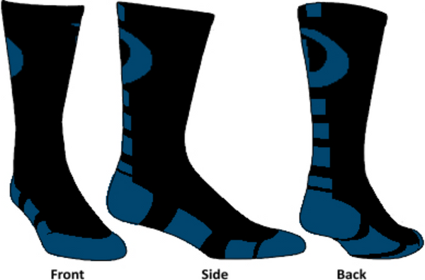 Dtown East Swimming & Diving Custom Crew Sox