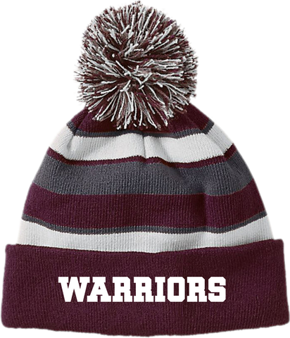 Warriors Striped Beanie