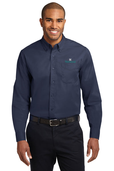 Norwood Long Sleeved Easy Care Shirt - Navy